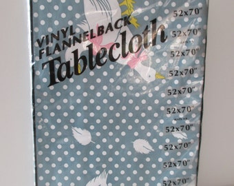 "Vinyl Flannel Back Tablecloth - 52"" x 70"""