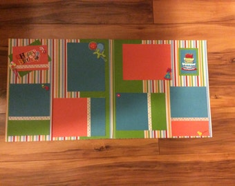 12 X 12 Premade Scrapbook Page