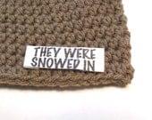 Winter storm Jonas baby hats.  Photography props for baby conceived during winter storm jonas.  Personalized baby hat, winter storm blizzard