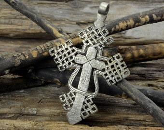 Byzantine cross, antique-style , jewelry supplies  , Large Pendant