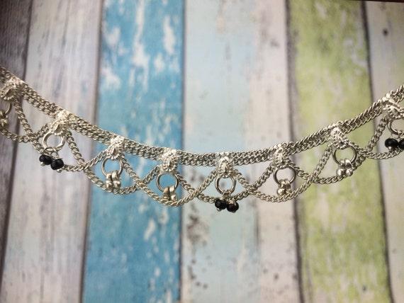 SILVER ANKLE BRACELET- Anklet- Slave Bracelet- Ankle Bracelet- Hippie- Summer- Bell Bracelet- Bell Ankle Bracelet- Vintage Bangle- Beach