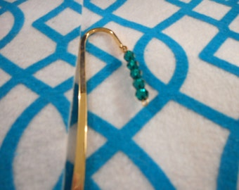 Hand made gold book marks or scarf pin