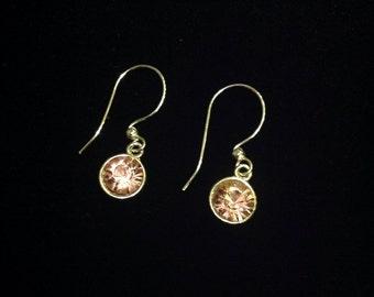 Light pink Swarovski drop earrings