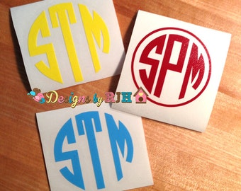 Personalized Monogram Decal, Car Monogram Decal Laptop Decal