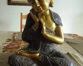 Spiritual Sculpture - Calming Sitting Buddha - Indoor or Outdoor Decor - Meditating Zen Statue - Inspired by Taoism - Buddhism - Hinduism