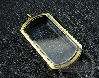 5pcs 50*28mm bronze vintage style alloy rectangle photo locket glass charm floating pendant charm 1191032
