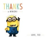 Minion Thank You Card Set