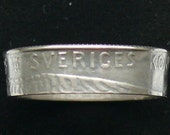 Silver Swedish Coin Ring