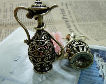 2pcs 20*28*48mm antique bronze Bottle charms pendant C1698