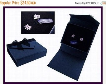 Genuine Amethyst 1 Carat Post Back Earrings Sterling Silver Boxed Holiday Gift Vintage 1980s