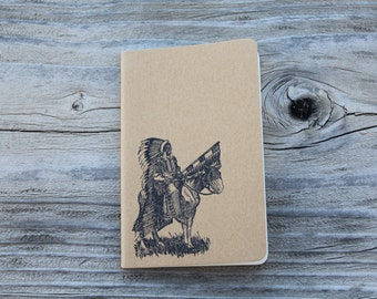Mini Native American Indian Chief Gift  Journal