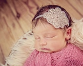 Handmade Rhinestone Flower Headband,Couture Headband, Rhinestone Headband, Wedding Accessory, Kid's Photography - We Make for all ages