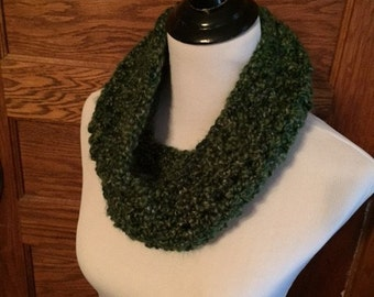 Crochet Cowl - Green Speckled
