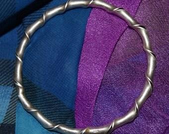 OLD GREEK STERLING Bangle Bracelet c1950