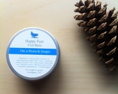 HAPPY FEET Foot Balm. Organic, Vegan, On a Branch Soaps, Calendula Extract, Peppermint, Lavender, Shea BUtter Balm,