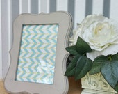 Light Gray Rustic Picture Frame - 5 x 7 - Vintage Antique Natural Wood Colored- Single Frame
