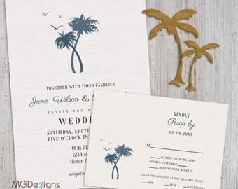 Palm tree wedding | Etsy
