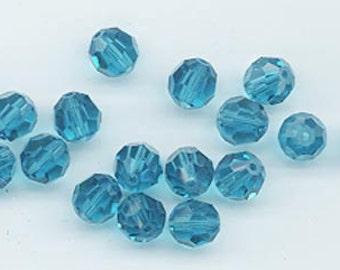 24 gorgeous Swarovski crystals - art 5000 - 6 mm - indicolite