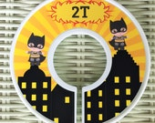 Super Hero Closet Divider // Super Hero // Batman Inspired Decor // Super Hero Decor // Batman Decor // Organize nursery