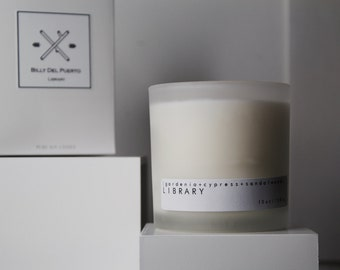 LIBRARY// sandelwood, gardenia & cypress scented candle