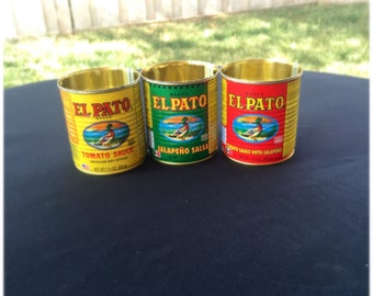 Small El Pato Spanish Sauce Cans Wedding Party Center Piece Decor