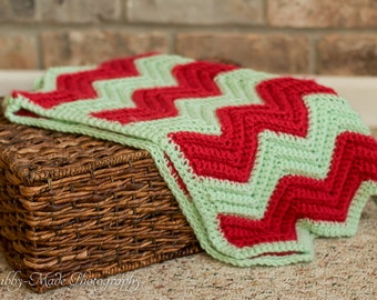 Chevron Baby Blanket - Sale!