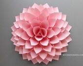 paper dahlia || 10 1/8'' nursery wall decor || wedding gift || | pink dahlia wall art || floral gifts | baby shower