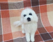 Reserved - Needle Felted Maltese Poodle