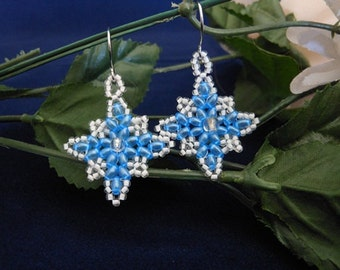 Glistening Snowflake Earrings