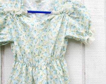 Vintage Girl's Dress Gunne Sax Size 5 Country Western Little Girl Dress Floral Vintage Kid's Clothes