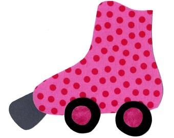 Roller skate fabric iron on applique DIY