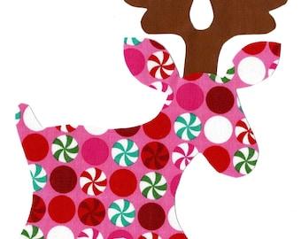 Christmas Moose iron on fabric applique DIY