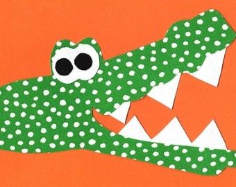 Alligator iron on fabric applique DIY