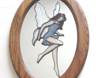 Stained Glass Fairy Mirror