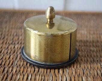 Brass stamp holder, vintage stamp holder, vintage office