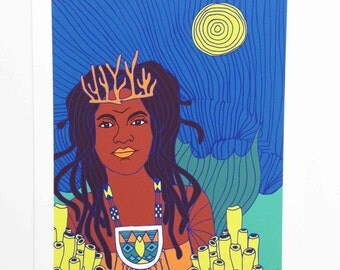 Yemoja (Mami Wata) Archival Giclee Art Print by Lulu Kitololo