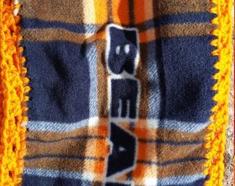 Chicago Bears Fleece Scarf with Crocheted Edges