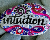 intuition / painted rocks / painted stones / unique gifts / desktop art / words in stone / rocks / stones / altar art / art on stone