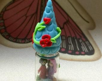 Miniature glass bottes Nativity  .