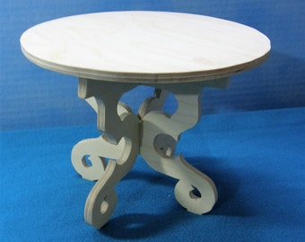 Custom unfinished table for Barbie, Monster High, and othe fashion dolls