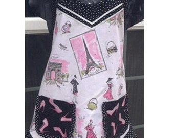 Paris Theme Ladies Apron