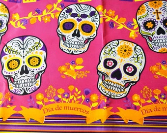 Day of the Dead Fabric, Printed  Fabric