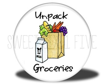 Unpack Groceries - Chore Magnet