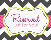 Reserved listing for Tina