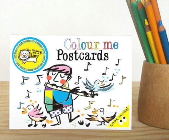 Music Colouring Postcard Booklet