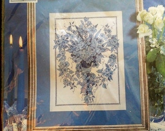 Blue Sconce Counted Cross Stitch Kit