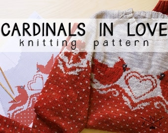 Cardinals in Love Sweater Knitting Pattern