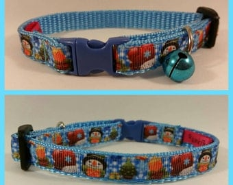 Jolly Snowman Cat Collar