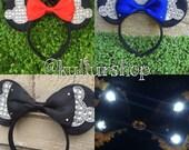 LIMITED Diamond Mickey Minnie Mouse Ears Flower Crown Headband