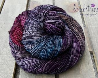 Sadie Sock HT 100g, Hand dyed yarn, Superwash merino wool, Single ply, 400 yds: Moody.